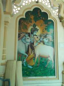 One of the many images of Krishna