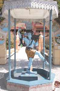 Dancing Shiva, in the garden of Parmarth Niketan